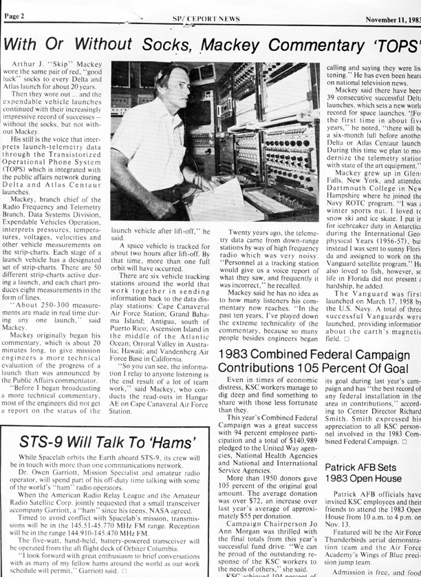 Spaceport News November 11, 1983